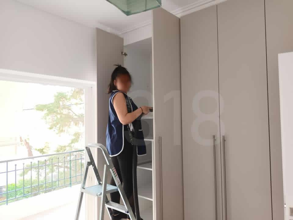 Αρχικός καθαρισμός μετά από ανακαίνιση σε οικία